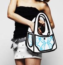 Cartoon Handbags: Real 2D Handbags For The Geek