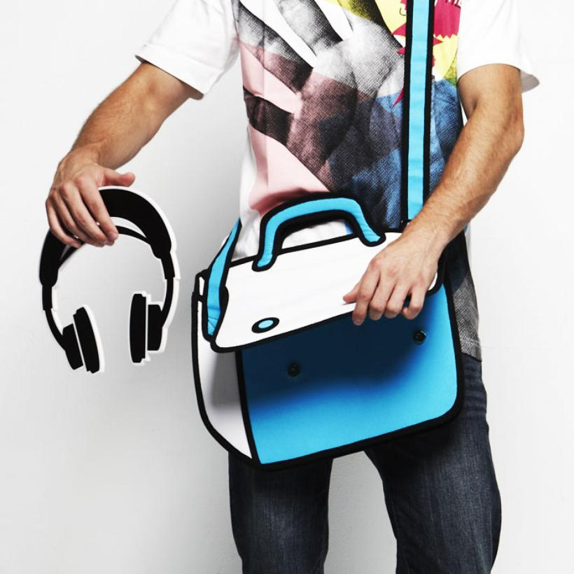 Cartoon Handbags: Real 2D Handbags For The Geek