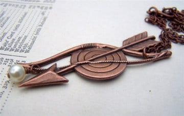 Quiver Target Bronze Pendant