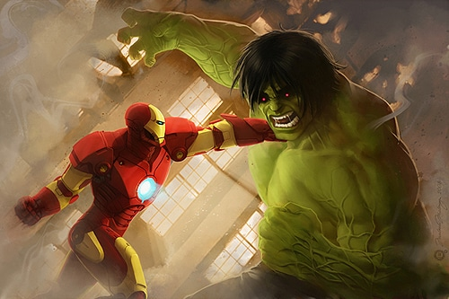 Colorful-Superheroes-Digital-Art