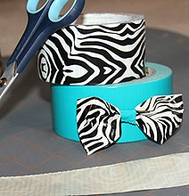 DIY Colorful Duct Tape Hair Bow
