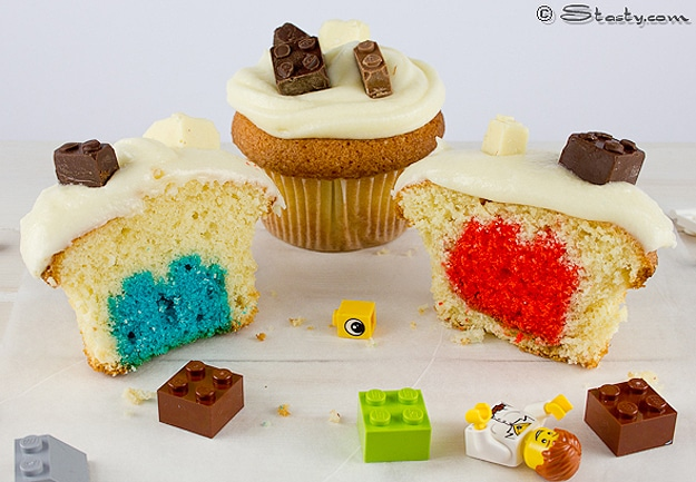 Double Lego Cupcakes To Make Your Inner Geek Smile