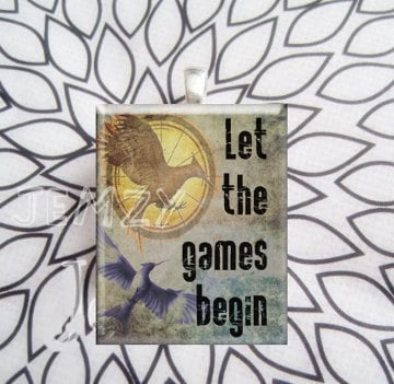 Scrabble Tile Necklace Mockingjay