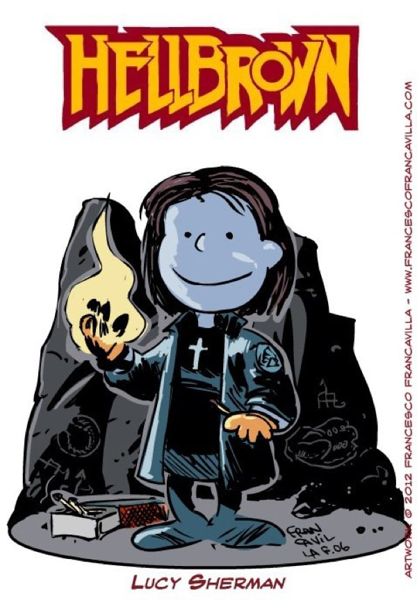 Peanuts-Hellboy-Mashup-Illustrations