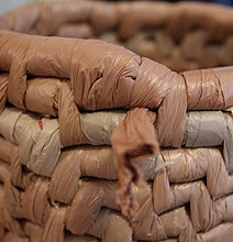 DIY Recycle Plastic Bags Into Useful Woven Baskets