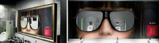 Sunglasses-Bathroom-Advertising-Sign
