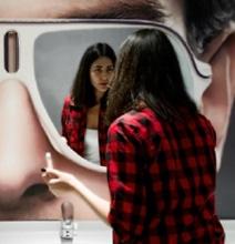 Badass Bathroom Mirror Advertising