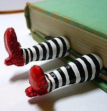 Wicked Witch Of The East Bookmark (Complete With Ruby Slippers)