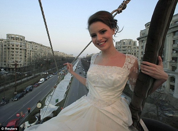 World's Longest Wedding Dress Train (Almost 2 Miles Long)