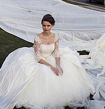 World's Longest Wedding Dress Train (Almost 2 Miles Long)