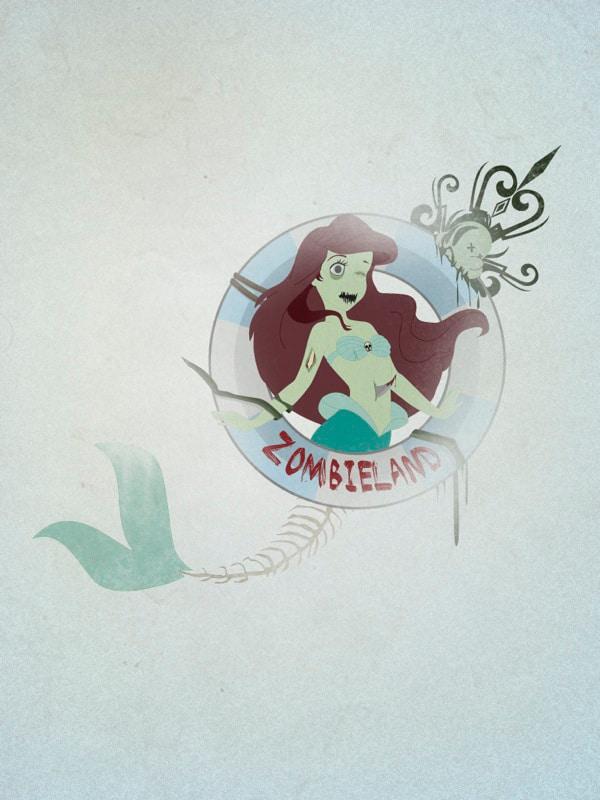 Zombie-Princesses-Ariel-Disney