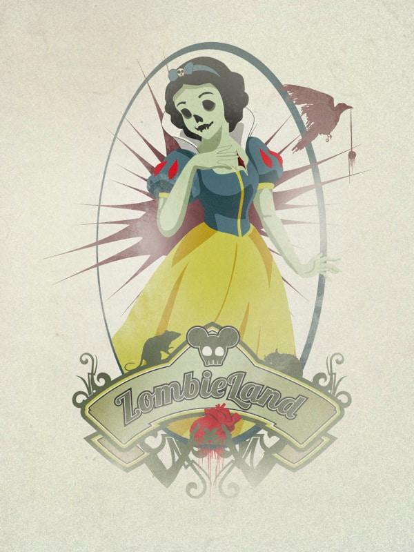 Disney Goes Dead: Ariel & Snow White Zombiefied