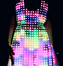 Geek Style: A Dress Made With 10,000 Embroidered LEDs