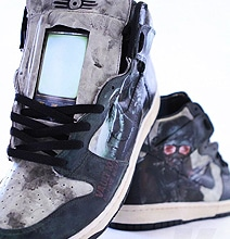 Fallout Post Apocalyptic Sneakers Sport Two iPod Touch Devices