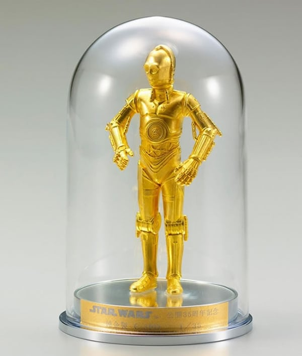 Solid Gold C-3PO & Sterling Silver R2-D2 Anniversary Figurines
