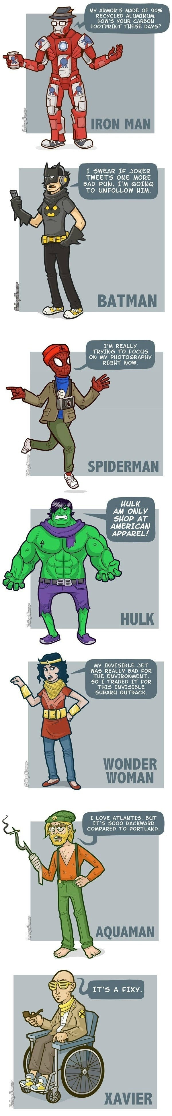The Lives Of Hipster Superheroes