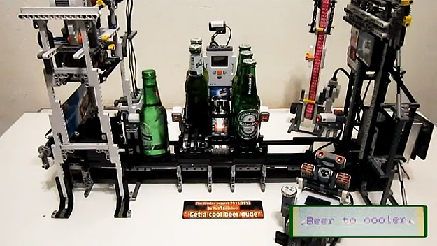 Lego Beer Machine Opens & Cools Your Beer Like A Boss