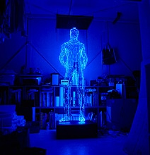 Mind Twisting Futuristic Holographic Light Sculptures
