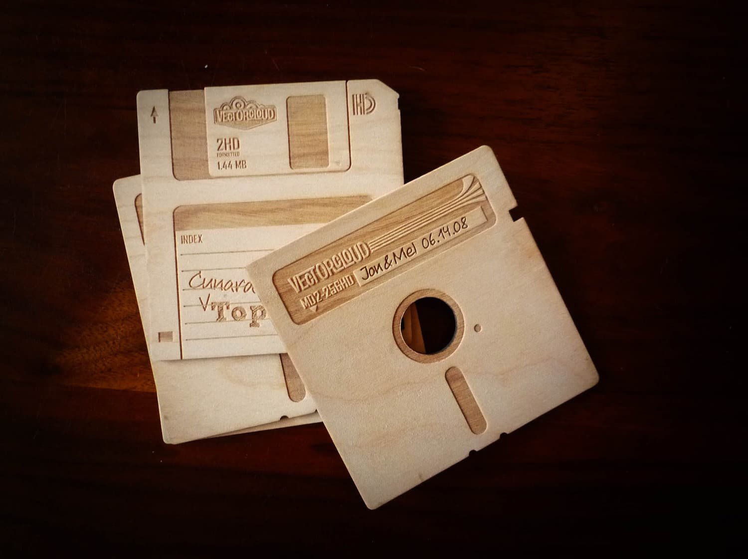 Floppy Disk Coasters: Wooden Retrofication