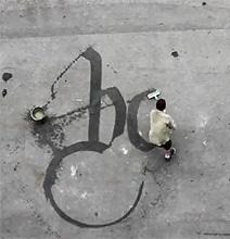 Beautiful Street Water Calligraffiti Art