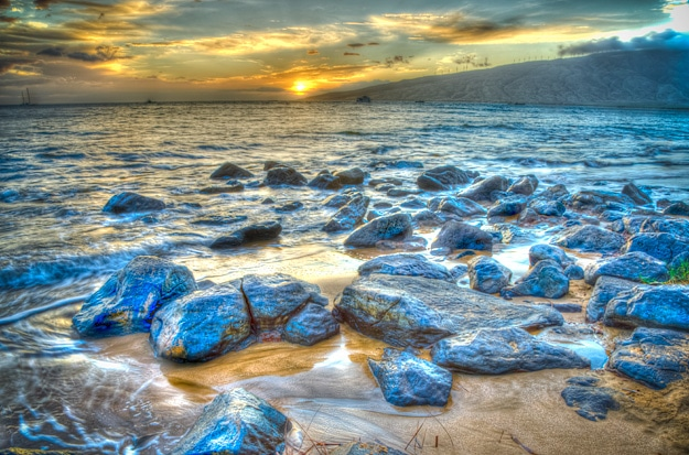 Sunset-Kihei-Maui-Hawaii-HDR