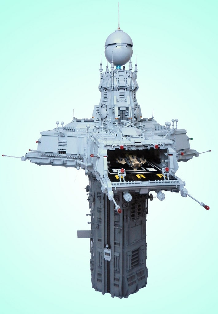 Triport Spire Lego Tower That Looks Like A Prop For A Sci