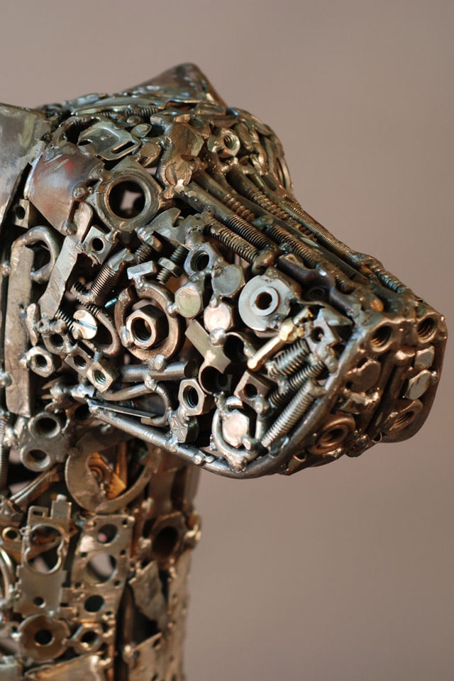 Trippy welded art created from pure scrapheap junk bit for Waste material object
