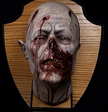 Horrifyingly Realistic Wall Mounted Taxidermy Zombie Head