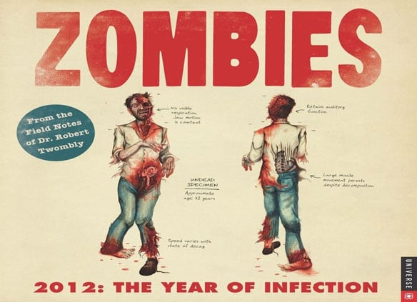 2012: The Year Of Infection Zombie Calendar