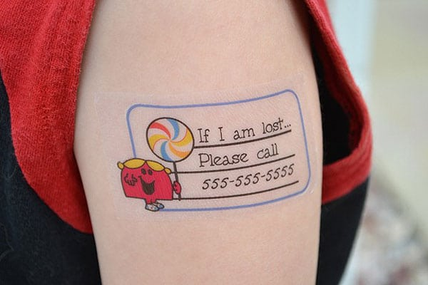 Colorful & Smart Safety Tattoos For Children