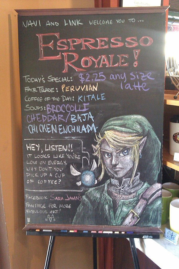 6 Coffee Heroes: Colorful Coffee Shop Chalkboard Art