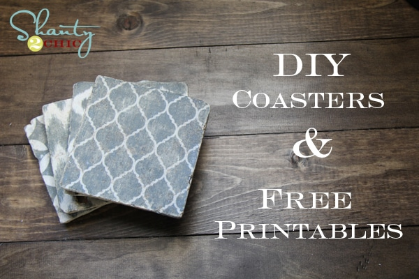 Creative Weekend Project: DIY Shabby Chic Drink Coasters