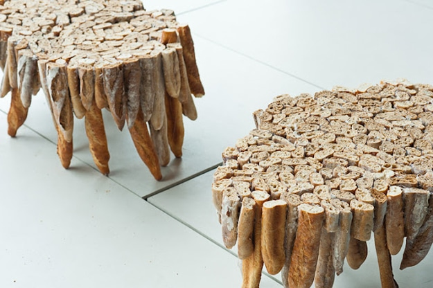 Beautiful Baguette Tables Made From Stale Bread
