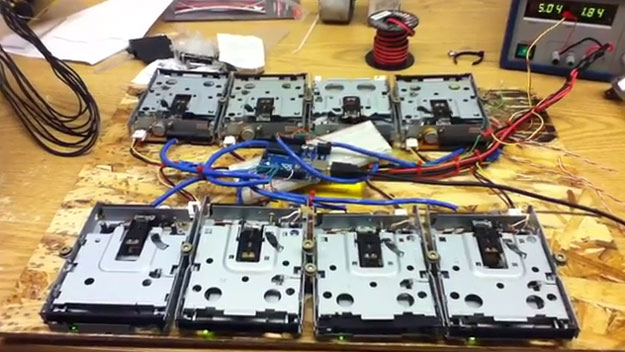James Bond 007 Theme Song Played On Floppy Drives