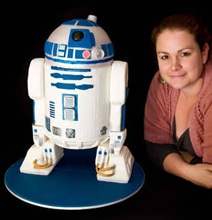 Realistic R2-D2 3D Cake Complete With Sound Module