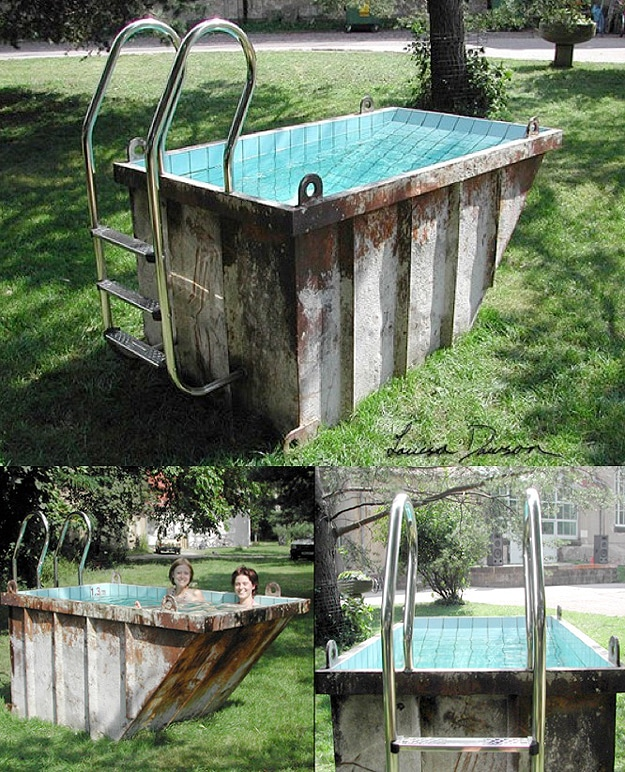 Ultimate Dumpster Diving: Dumpsters Repurposed Into Pools