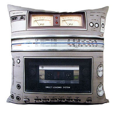 Retro-Boombox-Pillow-Set