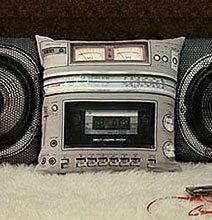 Retro Cool Style: Boombox Pillows Complete With Speakers