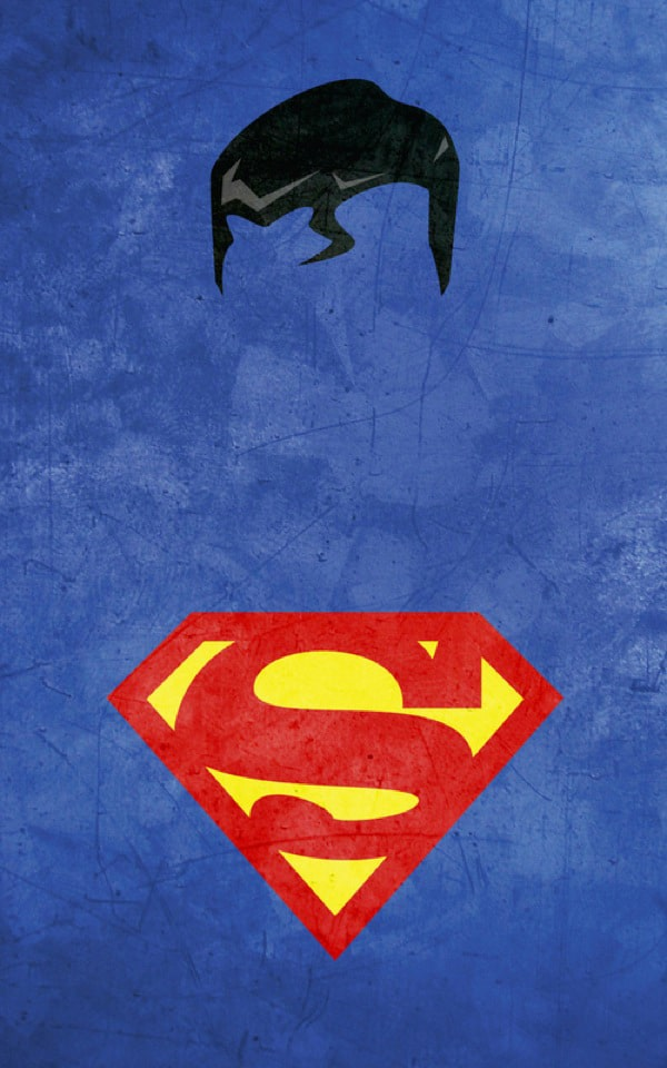 10 gorgeous minimalist superhero illustrations in vibrant