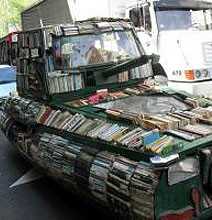 The Mobile Library Built On An Old Ford Transformed Into A Tank