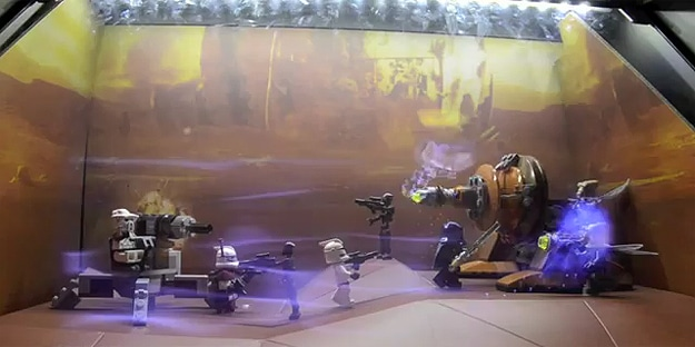 Epic Star Wars Augmented Window Lego Battle Display