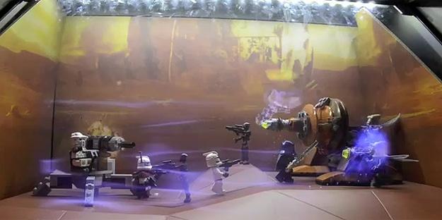 Epic Star Wars Augmented Window Lego Battle Display