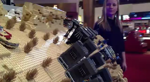 Mammoth Lego Organ Barrel Plays The Star Wars Theme