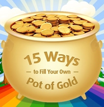 15 Money Hacks That Will Fill Your Own Pot Of Gold [Infographic]