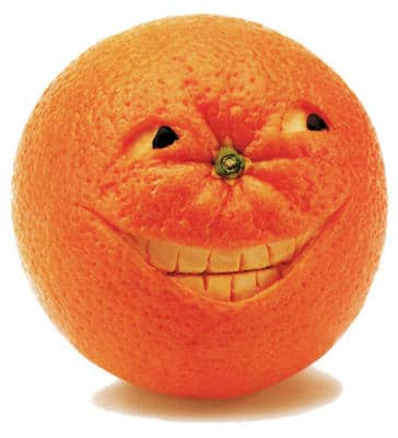 fruit rind mouth teeth