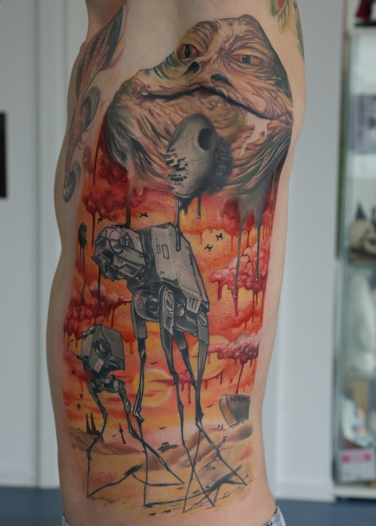Star Wars Tattoo Inspired By Salvador Dali