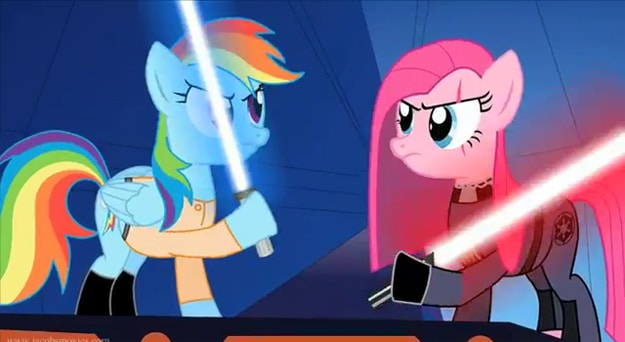 Star Wars Re-enacted By My Little Ponies [Video]