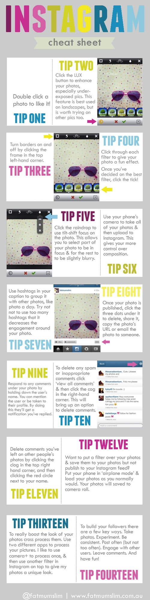 Instagram Cheat Sheet: 14 Tips To Master It All [Infographic]