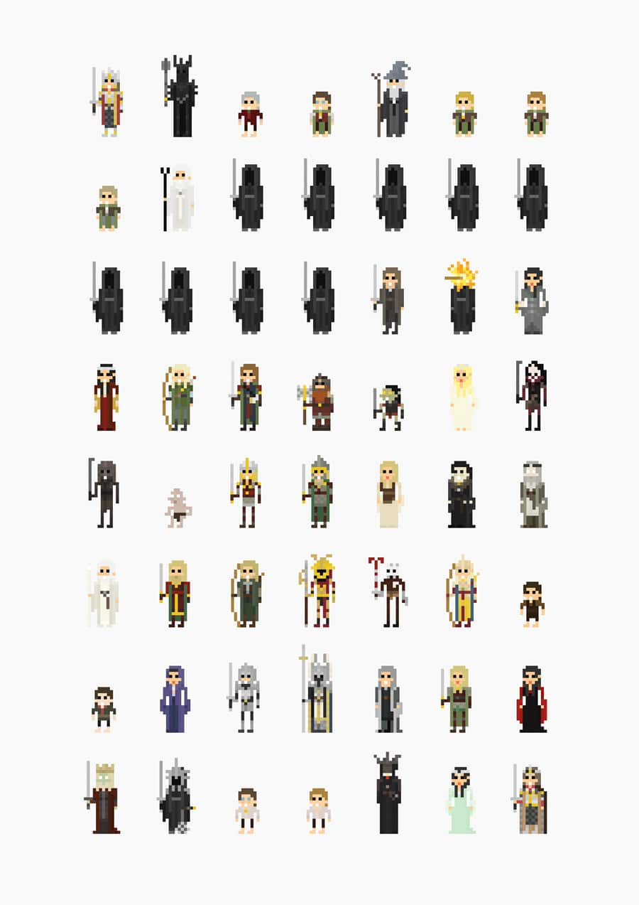 8-bit-movie-characters