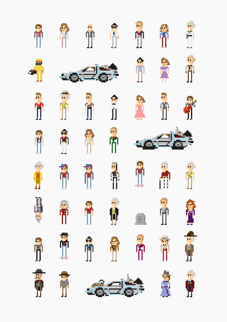 8-bit-movie-characters
